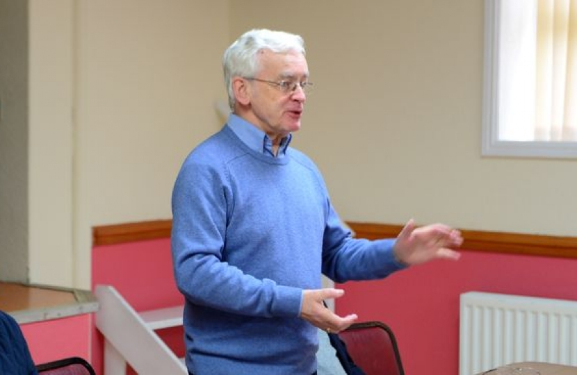 Martin Vickers MP for Cleethorpes speaks during the meeting